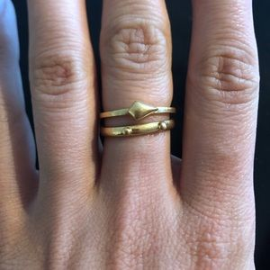 Madewell Stacking Ring Set - Gold 8
